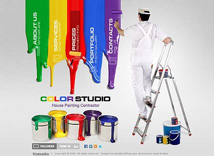 House Painting Flash Website Template Best Website Templates House Painter Website Template