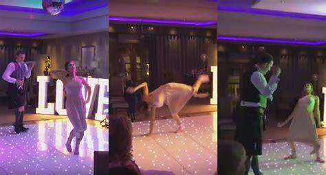 Watch Bridesmaid Demolish Best Man In Wedding Dance Off