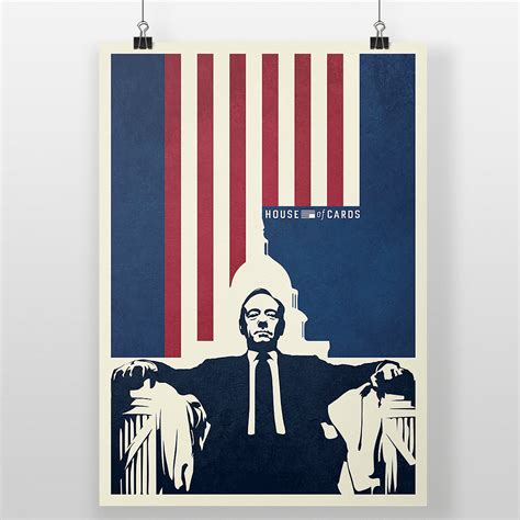 is house of cards over house of cards poster democracy print frank underwood