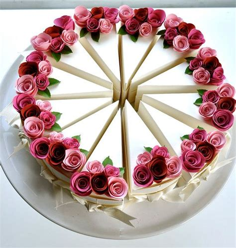 How To Make Paper Cake Slices - best 25 cake slice boxes ideas on paper cake