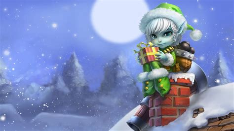 christmas elf tristana lol 51 wallpaper hd