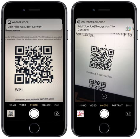 iphone scan qr codes directly in app on ios 11 macrumors