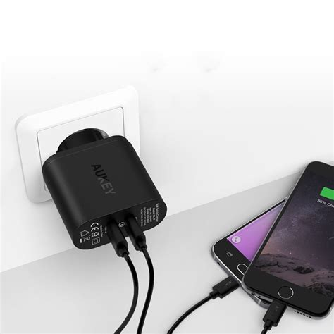 Charger Usb Aukey Pa T7 2 Port Eu 36w With Qc 2 0 Aipower Aukey Charger Usb 2 Port Eu 36w Dengan Qc 2 0