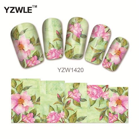 Nail Water Sticker 12 Pcs 1 yzwle 1pcs nail water sticker nails wraps foil decals temporary tattoos