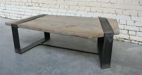 table basse ra tb007 giani desmet meubles indus bois m 233 tal et cuir