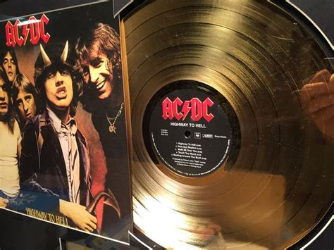 Dc Records Ac Dc Highway To Hell Gold Record 24k Gilt Catawiki