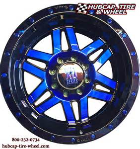 Wheels Blue Truck New Custom Painted Wheels Kmc Xd Series Xd128 Machete