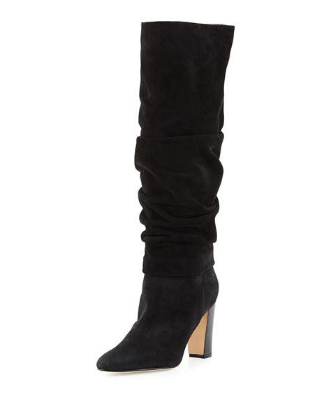 Shoes Manolo Blahnik 1129 2a manolo blahnik brunchilee slouchy suede knee high boots in