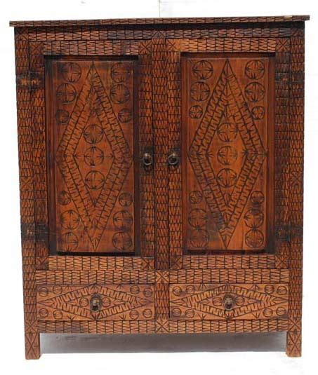 moroccan carved armoire