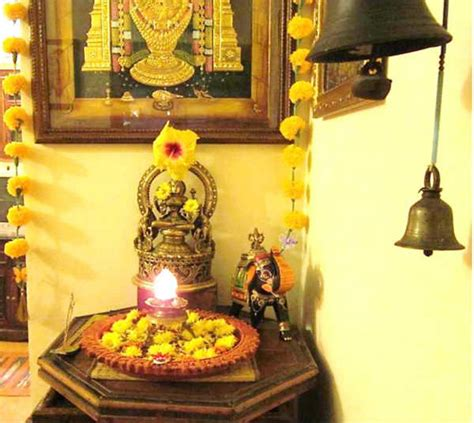 temple decoration in home shalu prasad tanjore painting home studio temple bells interior design travel heritage