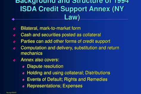 Template Credit Support Annex Ppt Robert G Pickel Executive Director And Chief Executive Officer Isda Powerpoint