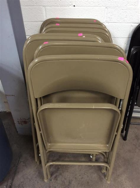 colored folding chairs 8pc sand colored metal folding chairs