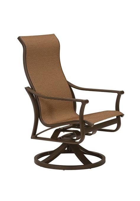 Patio Furniture Chair Replacement Parts by Corsica Sling High Back Swivel Rocker Tropitone