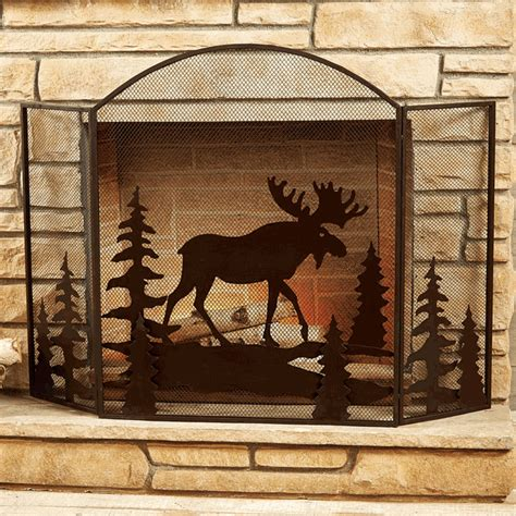Moose Decor by Moose Fireplace Screen