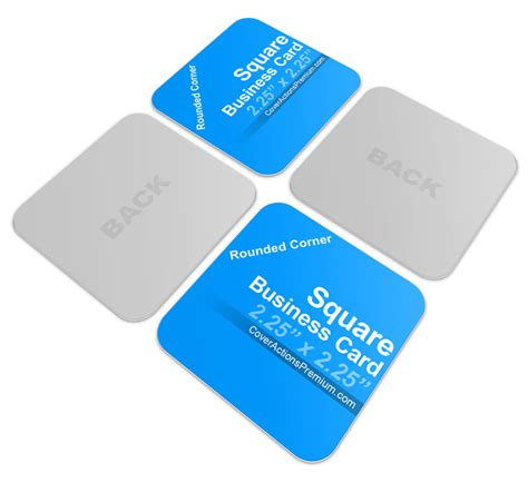 square business card mockup template square business card mockup cover actions premium