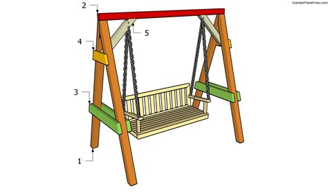 woodwork wooden garden swing bench plans  plans