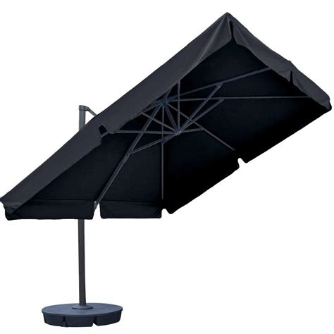 Island Umbrella Santorini Ii 10 Ft Square Cantilever Square Cantilever Patio Umbrella