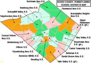 School District Map File Map Of Berks County Pennsylvania School Districts Png