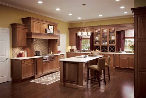 Kitchen Cabinet Wood Colors Cherry Cabinets And Flooring