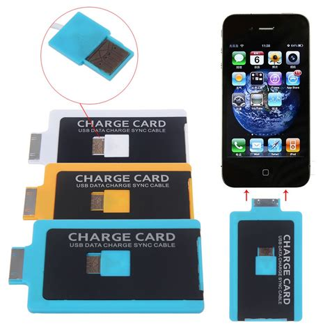 Credit Card Sized by Charge Credit Card Sized Slim Usb Cable For Iphone 4