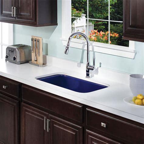 Kitchen Sink Colors Ex Pcg 3600 Porcela Collection Porcelain Enamel Steel Gourmet Undermount Single Bowl Kitchen