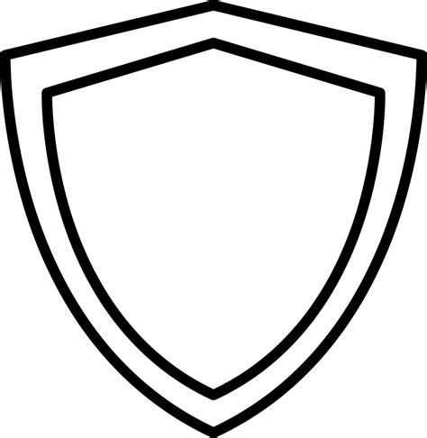 shield psd template shield outline svg png icon free 18047
