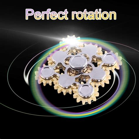 Fidget Spinner 9 Bearing Wheel Gear Electric Saw Metal Toys 19 sunsky 9 wheel gears electric saw fidget spinner stress reducer anti anxiety for