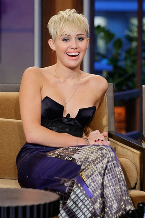 young nips lil miley cyrus narrowly avoids nip slip on tonight show us