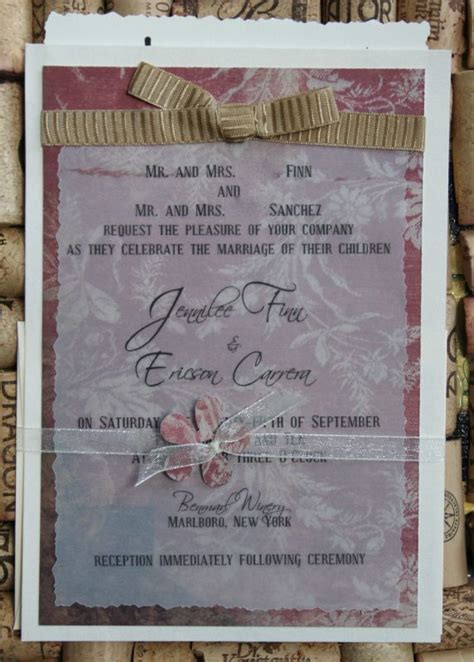 Printed Wedding Invitations Velum by Vintage Inspired Invitations Weddingbee Photo Gallery