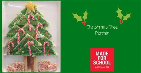 recipe christmas tree platter made for school