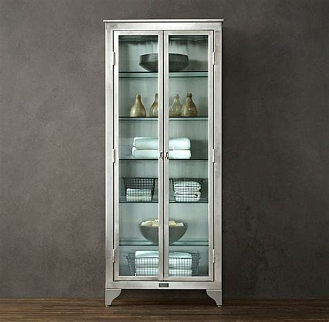 Restoration Hardware Bathroom Storage Glass Cabinets For A Chic Display