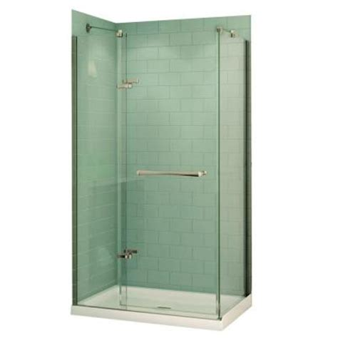 48 Corner Shower Stall Maax Reveal 32 In X 48 In X 74 5 In Corner Shower Stall