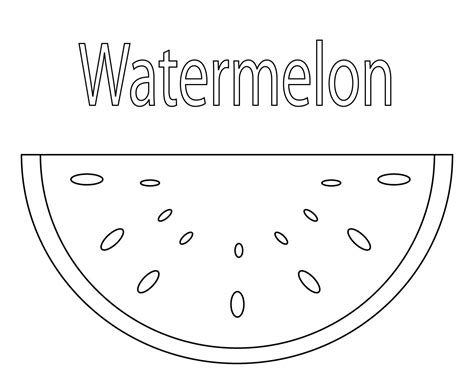 watermelon coloring pages  print