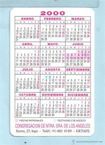 Calendario Ano 2000 Calendario A 241 O 2000 De Publicidad De Casa C Comprar