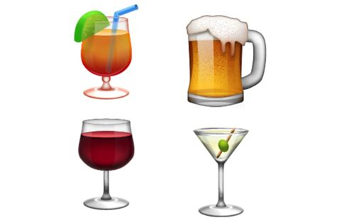 cocktail emoji this bar has an all emoji menu
