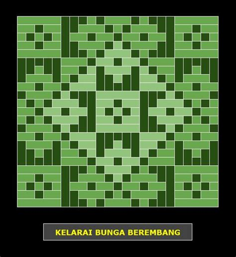 bunga tanjung pattern kelarai bunga berembang weaving patterns kelarai pinterest