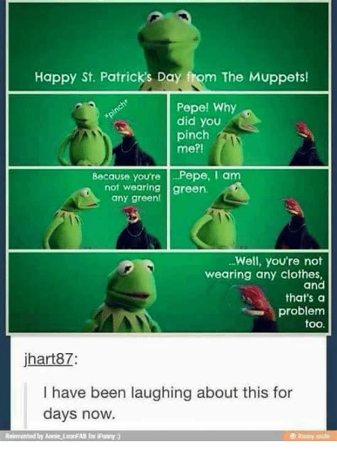 St Patricks Day Funny Memes - 25 best memes about muppet muppet memes
