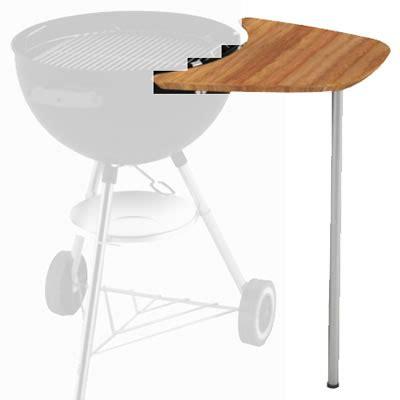 weber kettle side table weber sidekick table fits 47 5cm charcoal bbq 17638