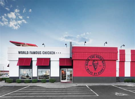 kfc store layout design kfc s redesigned store looks like a half finished banksy