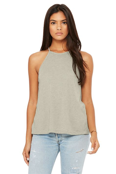 Top Out Cut Blouse Flowy s flowy high neck tank canvas