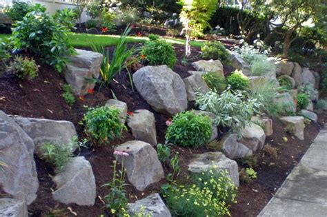 free rocks for garden sloped rock garden ideas beautiful sloped rock garden to
