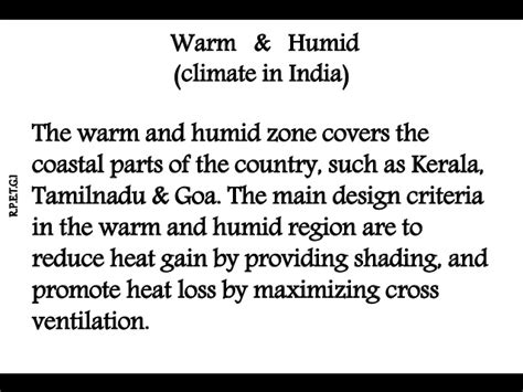 Design Criteria For Warm And Humid Climate | quot warm and humid quot climate and their designs