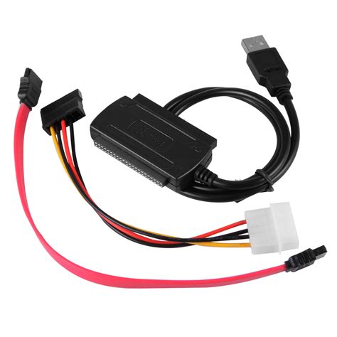 Kabel Usb 2 0 To Sata Ide Cable 3 in 1 sata ide zu usb 2 0 adapter converter kabel hdd cd