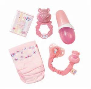 Baby born dolls feeding bottle nappy food rattle dummy nappies value