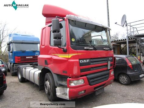 daf cf 75 360 4x2 3 air 2004 standard tractor trailer unit photo and specs