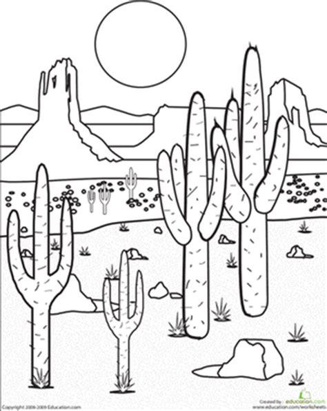 desert coloring pages color the desert landscape worksheet education