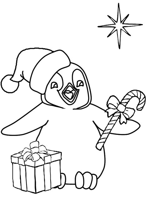 Christmas penguin coloring pages free printable penguin coloring pages