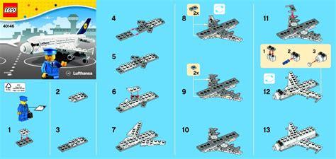 lego jet tutorial promotional lego lufthansa plane instructions 40146
