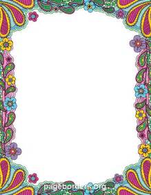 printable colorful doodle border use the border in