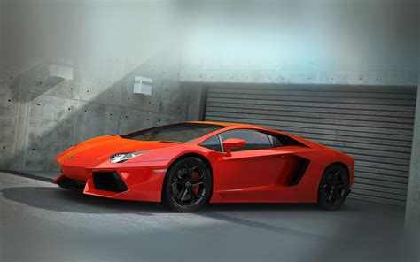 wallpaper macbook car ai89 red lamborghini parked car art